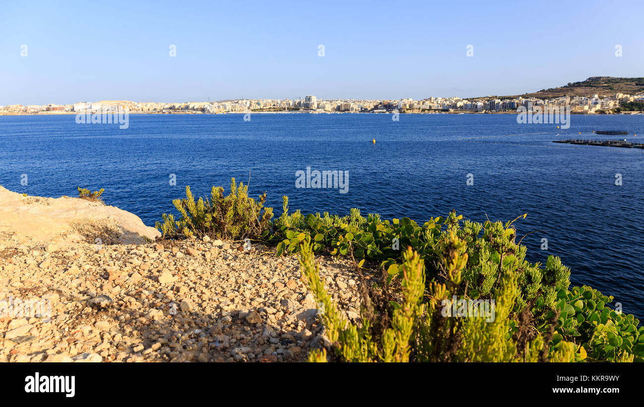 Malta, officially known as the Republic of Malta, is a Southern European island country consisting of an archipelago - Stock Image