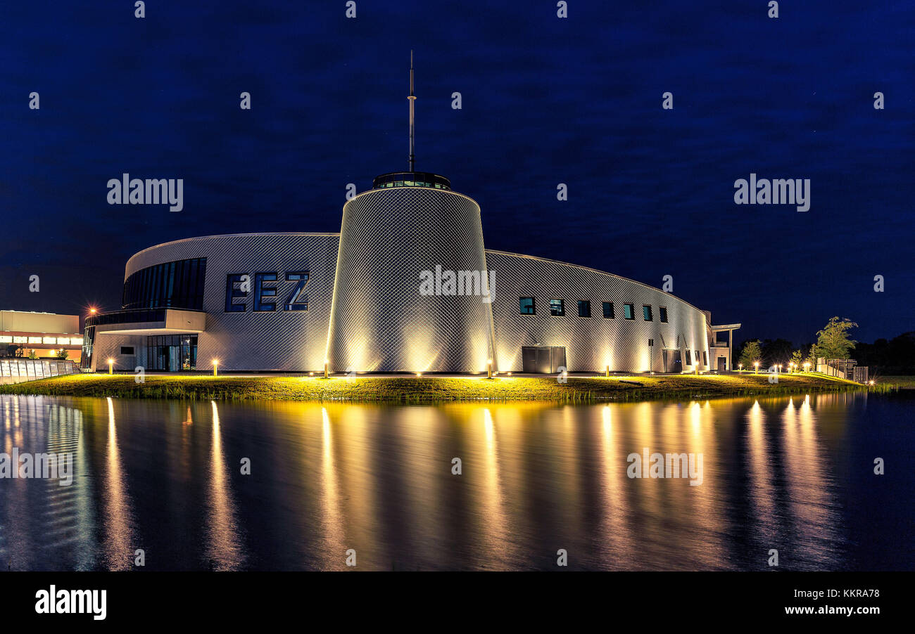 The Energie Erlebnis Zentrum Aurich is a modern centre about energy and it's usage. Stock Photo