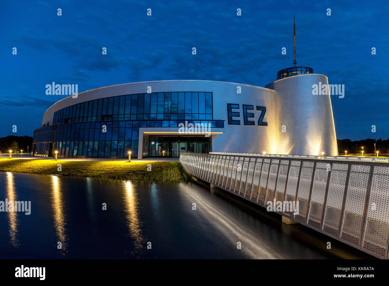 The Energie Erlebnis Zentrum Aurich is a modern centre about energy and it's usage. - Stock Image