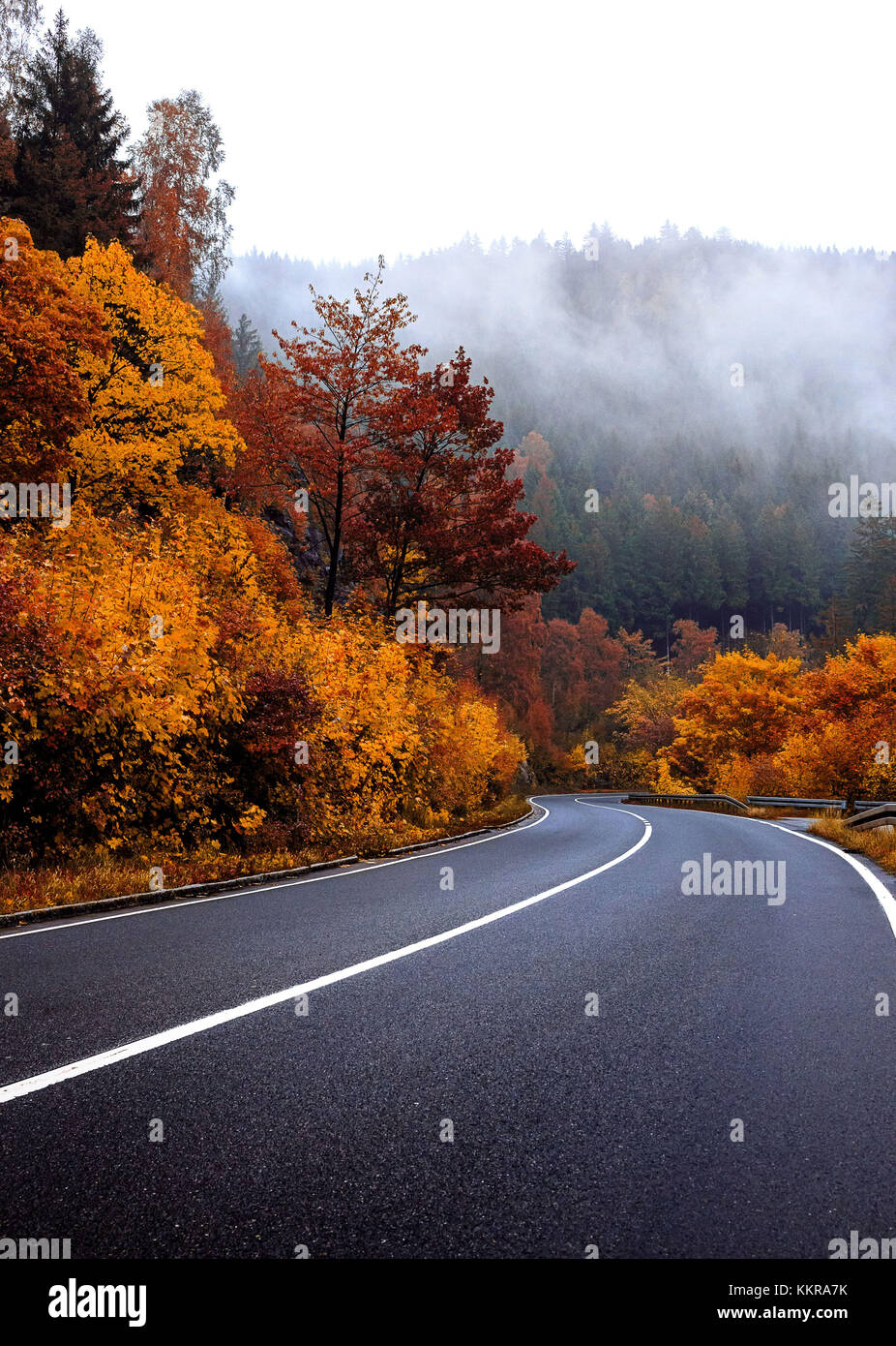 The Harz is the highest mountain range in Northern Germany and its rugged terrain extends across parts of Lower - Stock Image