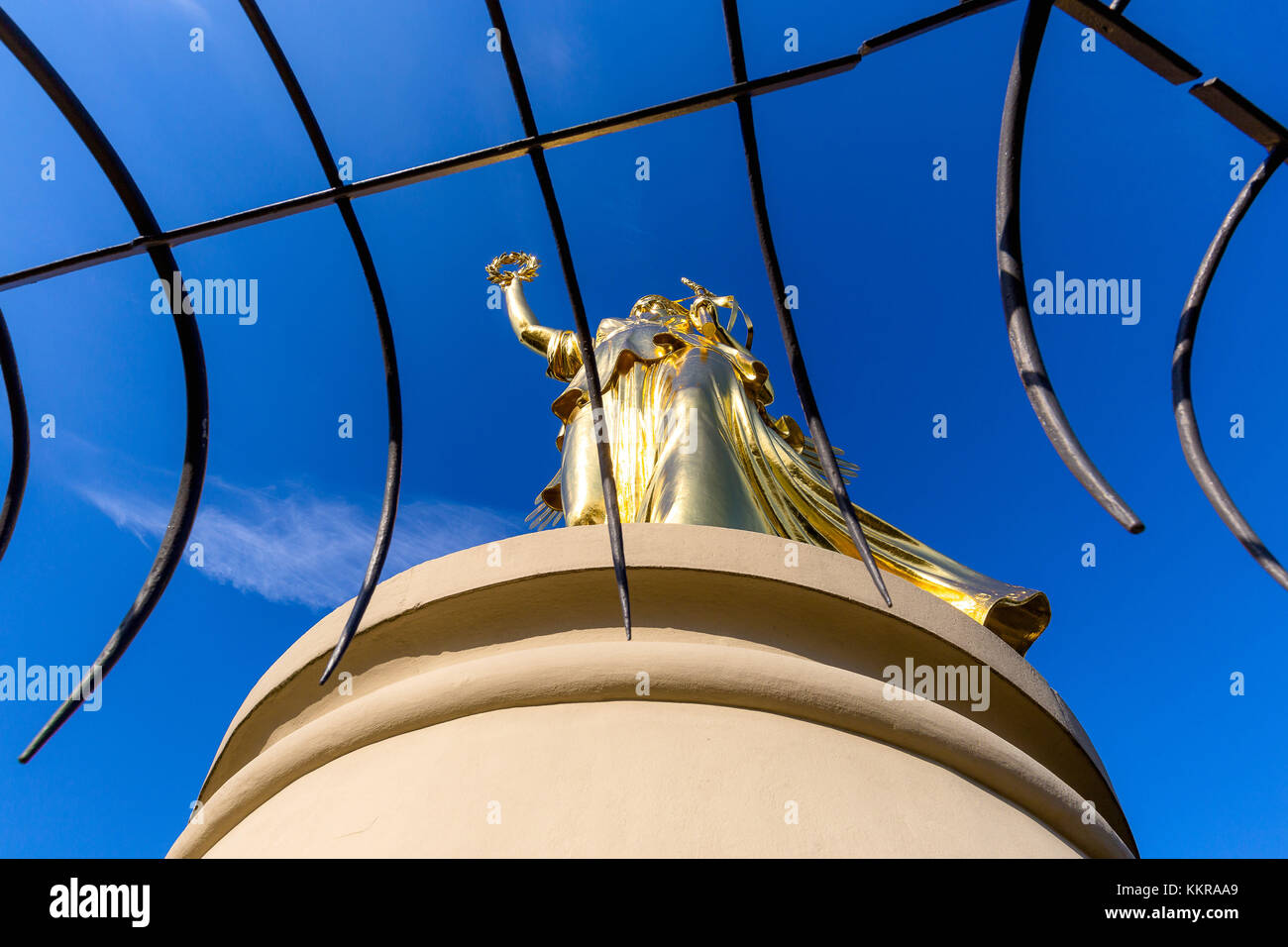 The Victoria on the victory column in Berlin, lokally known as golden lizzy (Goldelse) - Stock Image