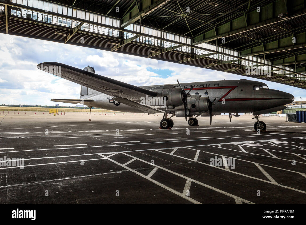 These airplanes were used at the Berlin Blockade. The Berlin Blockade (24 June 1948 - 12 May 1949) was one of the - Stock Image