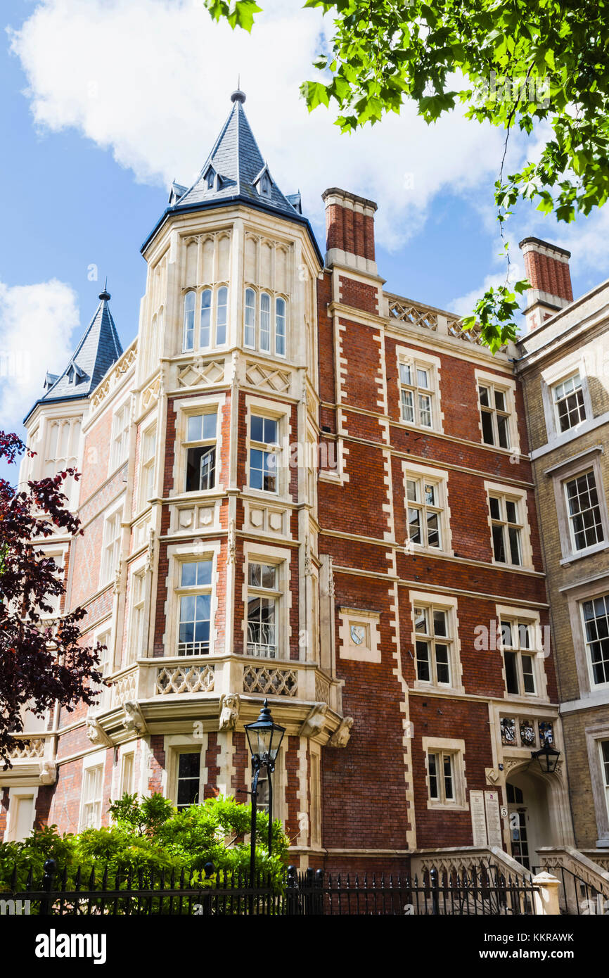England, London, City of London, Inns of Court, Inner Temple, King's Bench Walk, 5 Paper Buildings - Stock Image