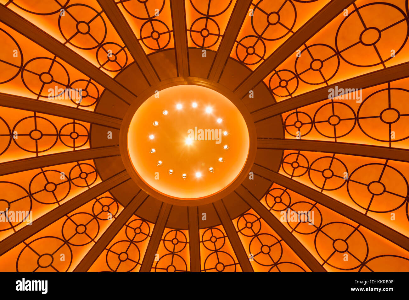England, London, City of London, The Four Seasons Hotel, Lobby Ceiling Stock Photo