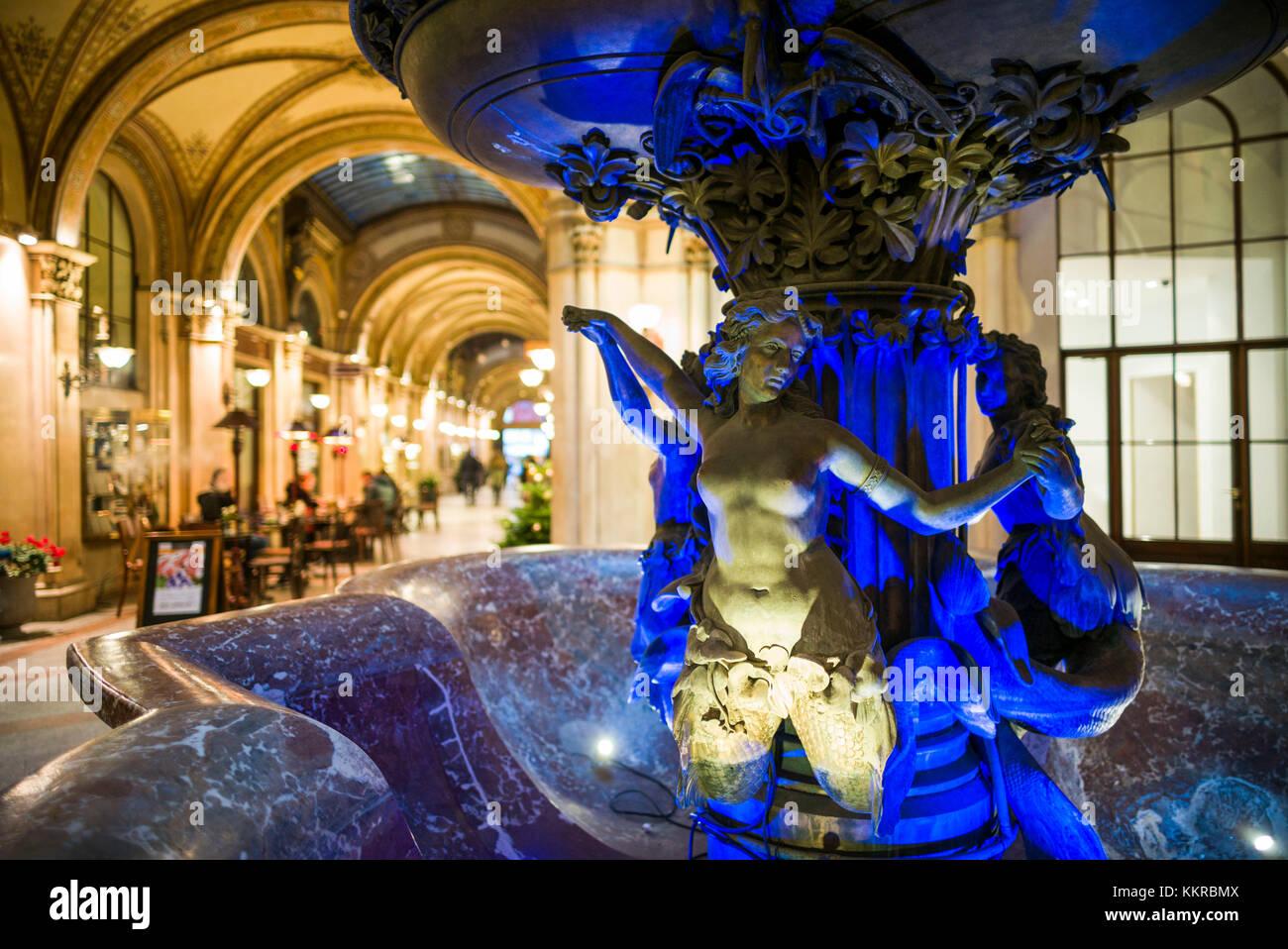 Austria, Vienna, Palais Ferstel shopping arcade, interior - Stock Image