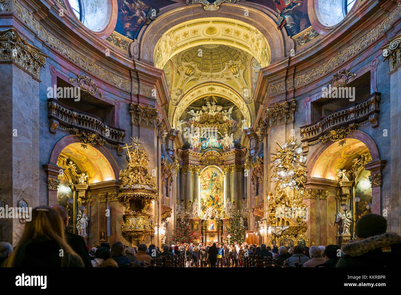 Austria Vienna Peterskirche St Peters Church Interior Church