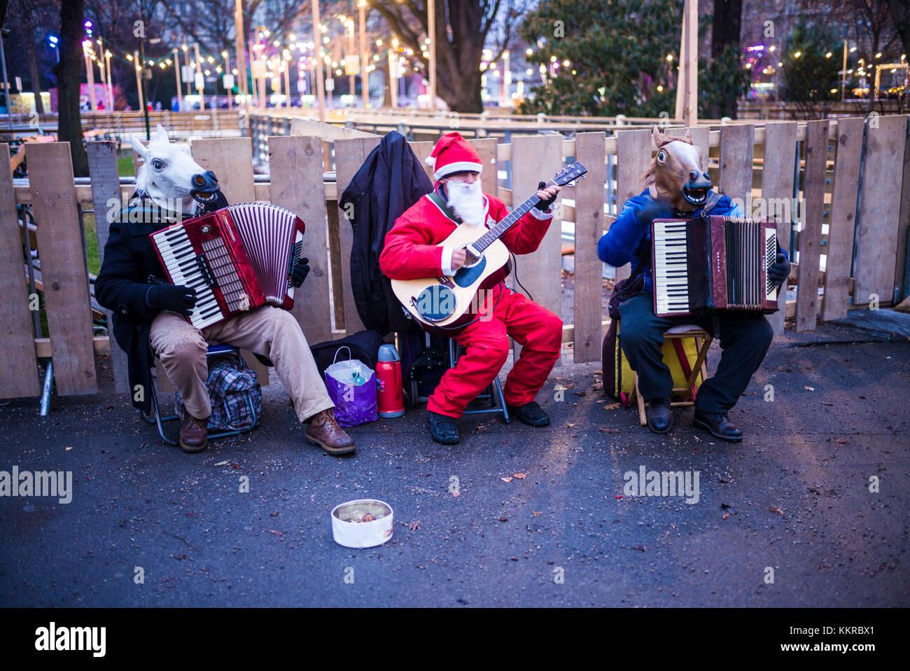 Austria, Vienna, Christmastime, the animal orchestra - Stock Image