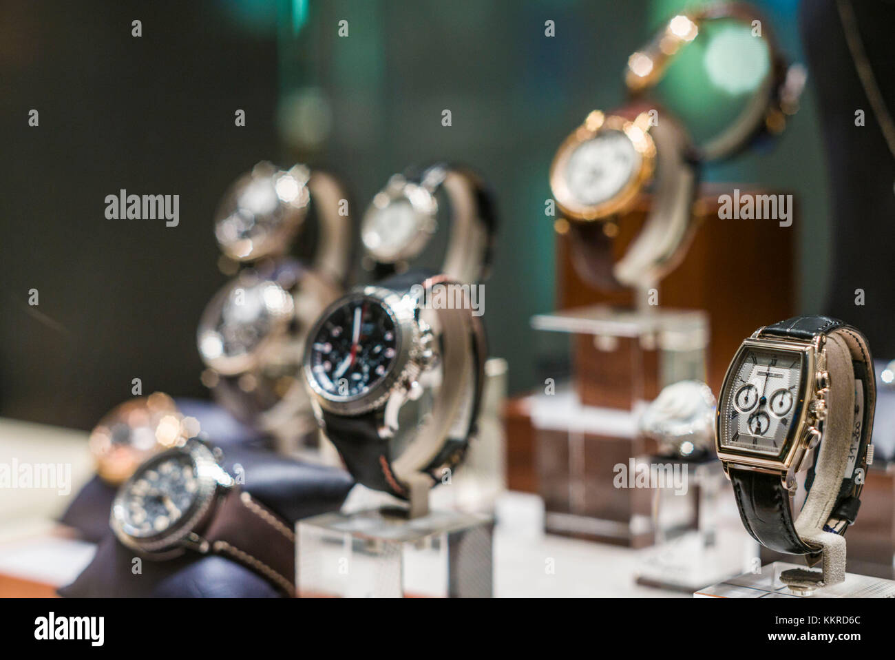 French West Indies, St-Barthelemy, Gustavia, shopping, wristwatches - Stock Image