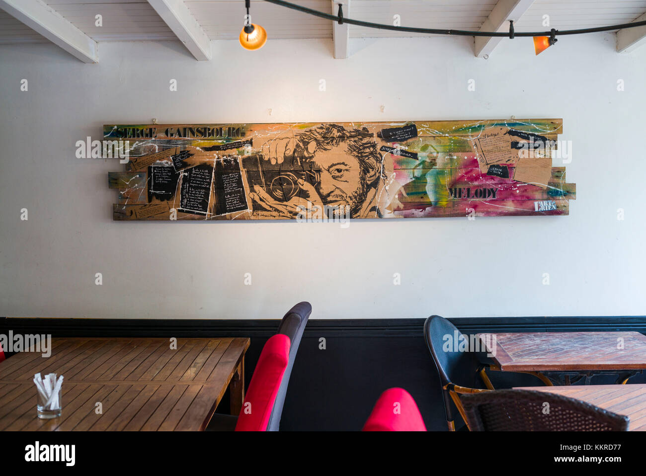 French West Indies St-Barthelemy St-Jean cafe wall art of & Cafe Wall Art Stock Photos u0026 Cafe Wall Art Stock Images - Alamy