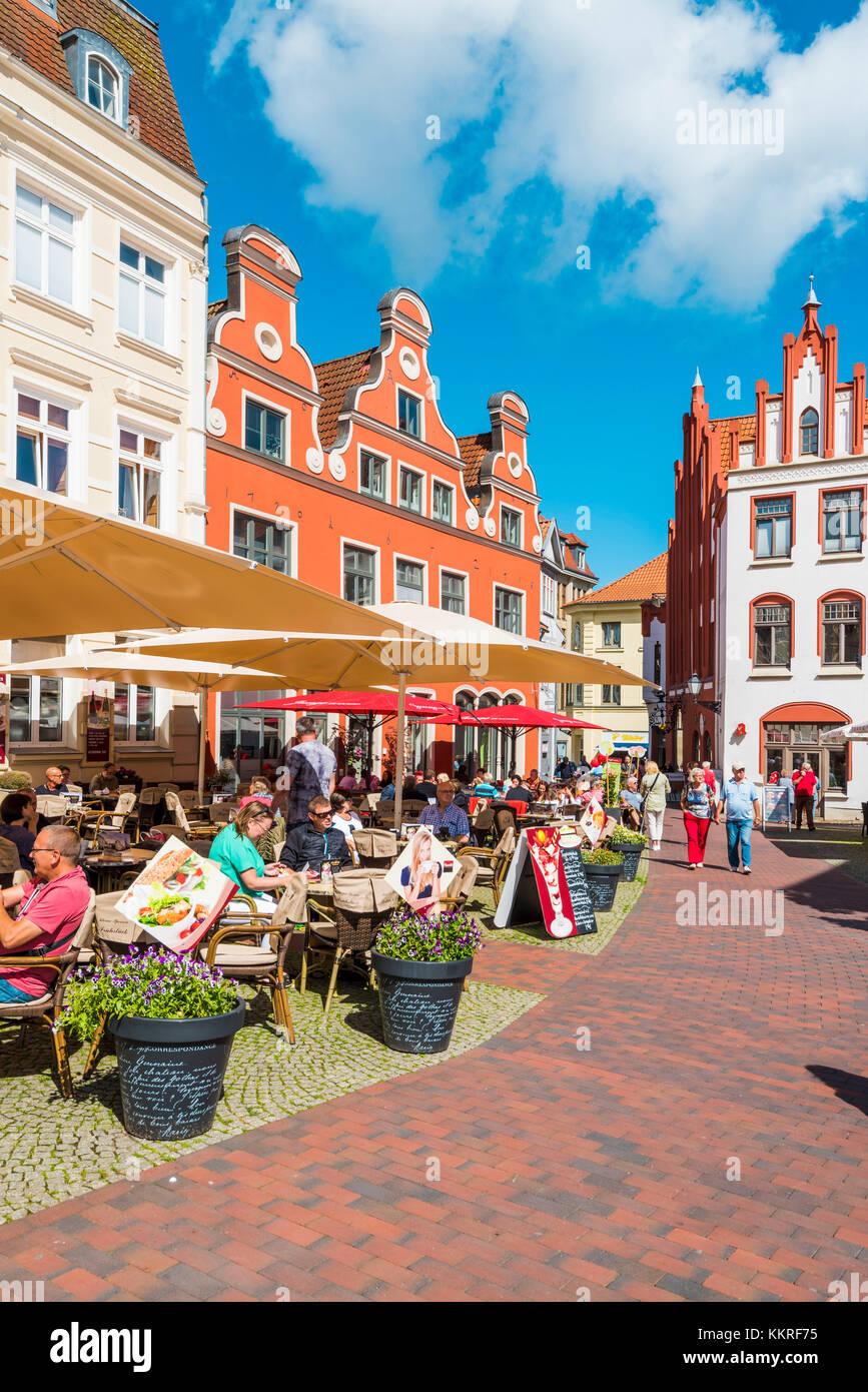Wismar, Baltic coast, Nordwestmecklenburg, Mecklenburg-Western Pomerania, Germany. - Stock Image