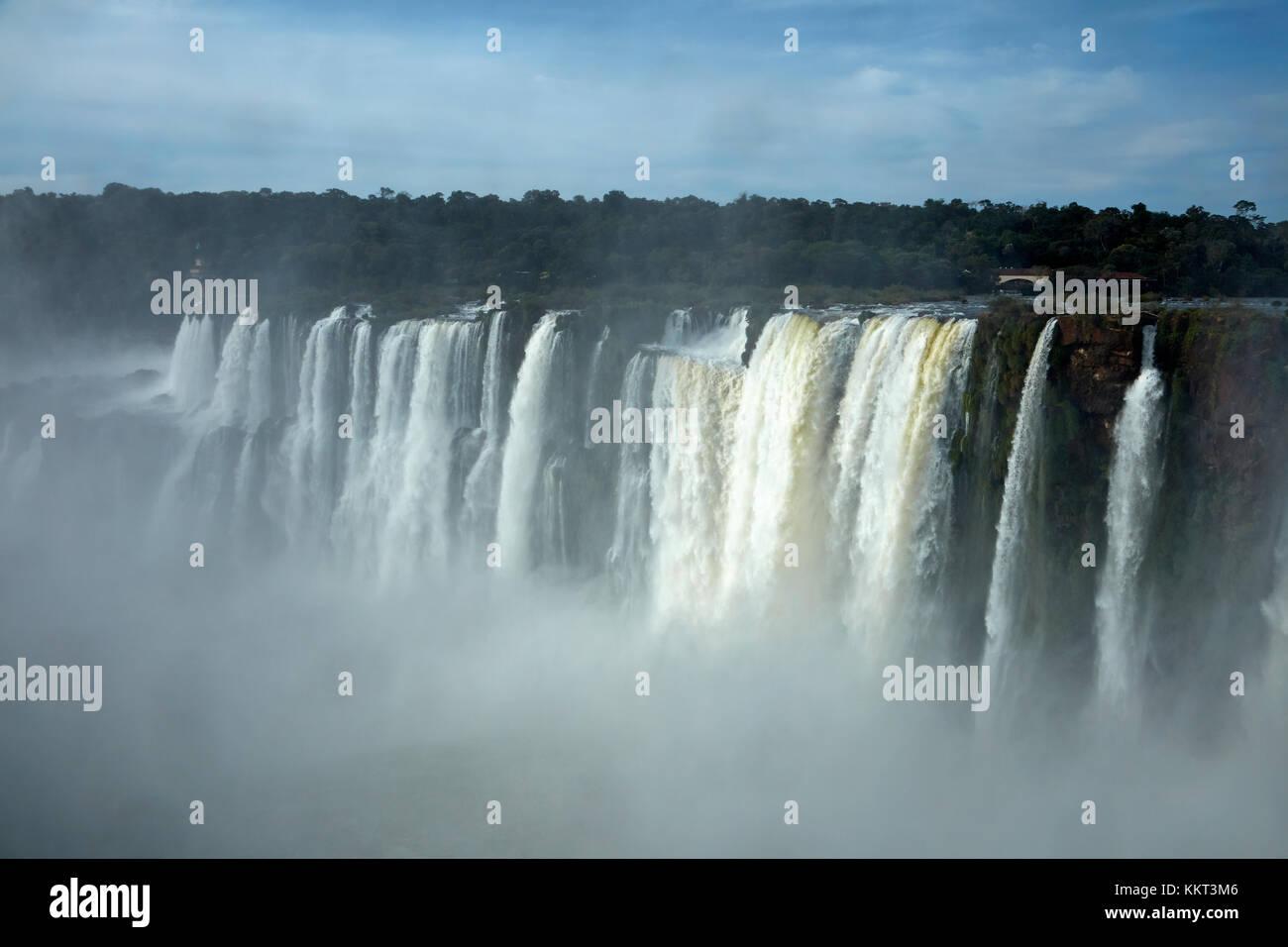 Devil's Throat (Garganta del Diablo), Iguazu Falls, on Argentina - Brazil Border, South America - Stock Image