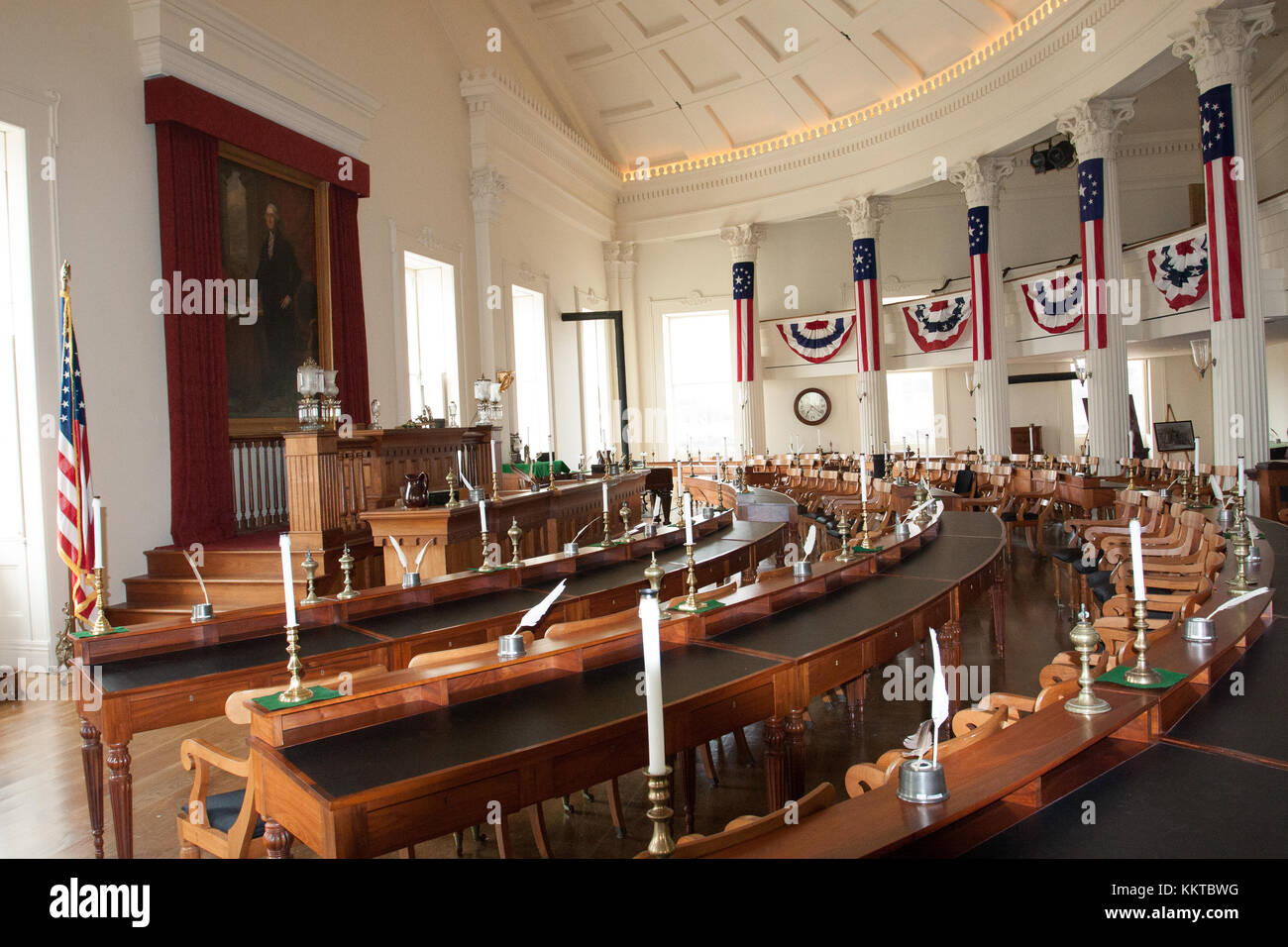Springfield, Illinois, USA. Sept 2010 -Old State Capitol and Chamber of Representatives,historical building where - Stock Image