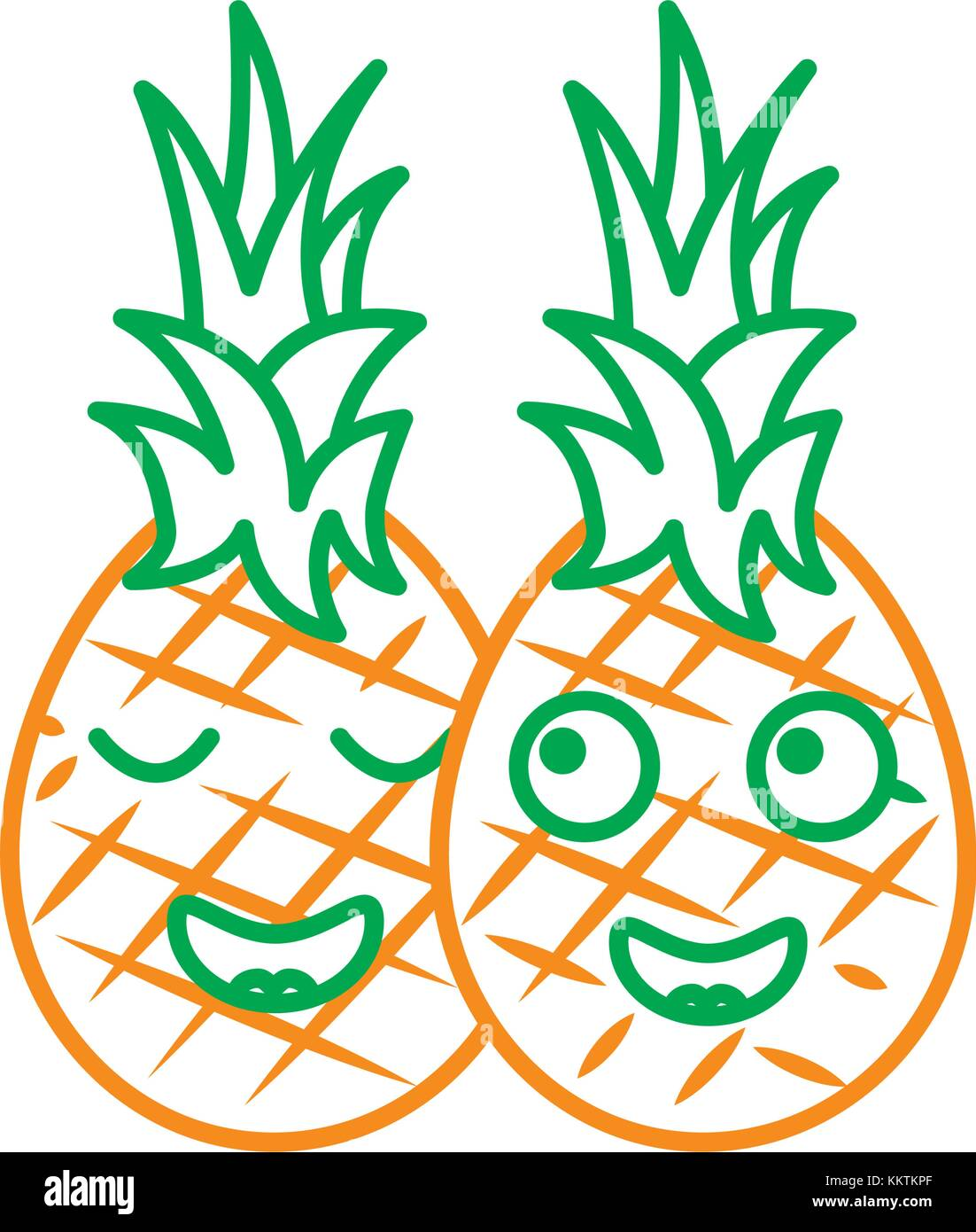 Pinapple Cut Out Stock Images Pictures Alamy