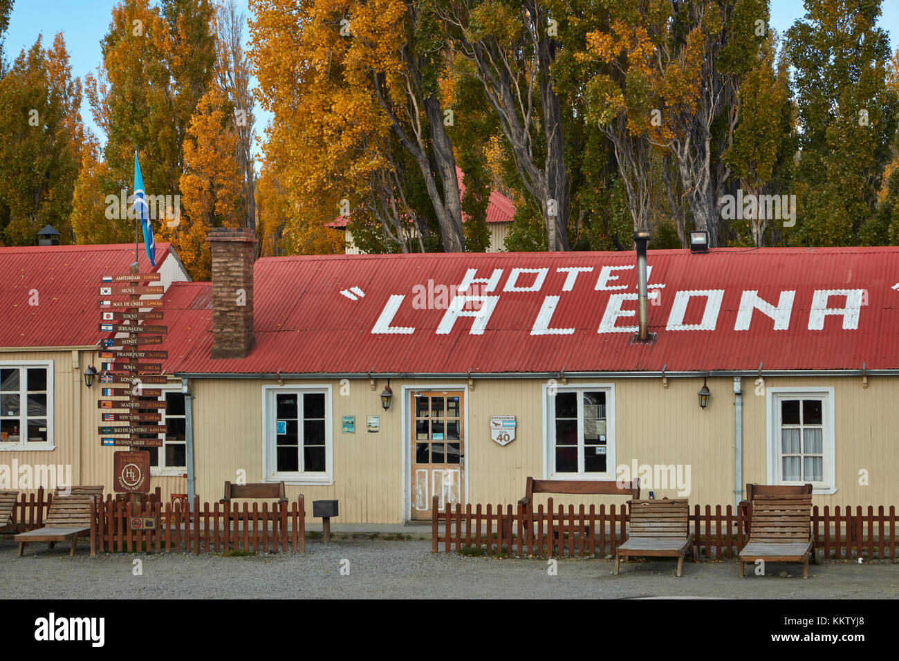 Hotel La Leona, Route 40, Patagonia, Argentina, South America - Stock Image