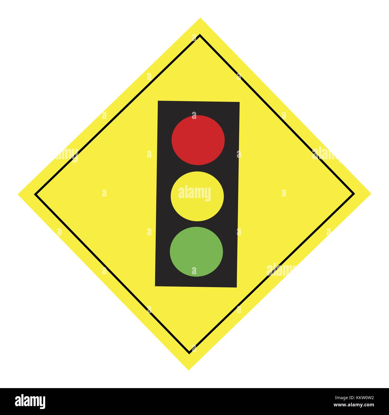 Road Signs traffic light - Stock Image