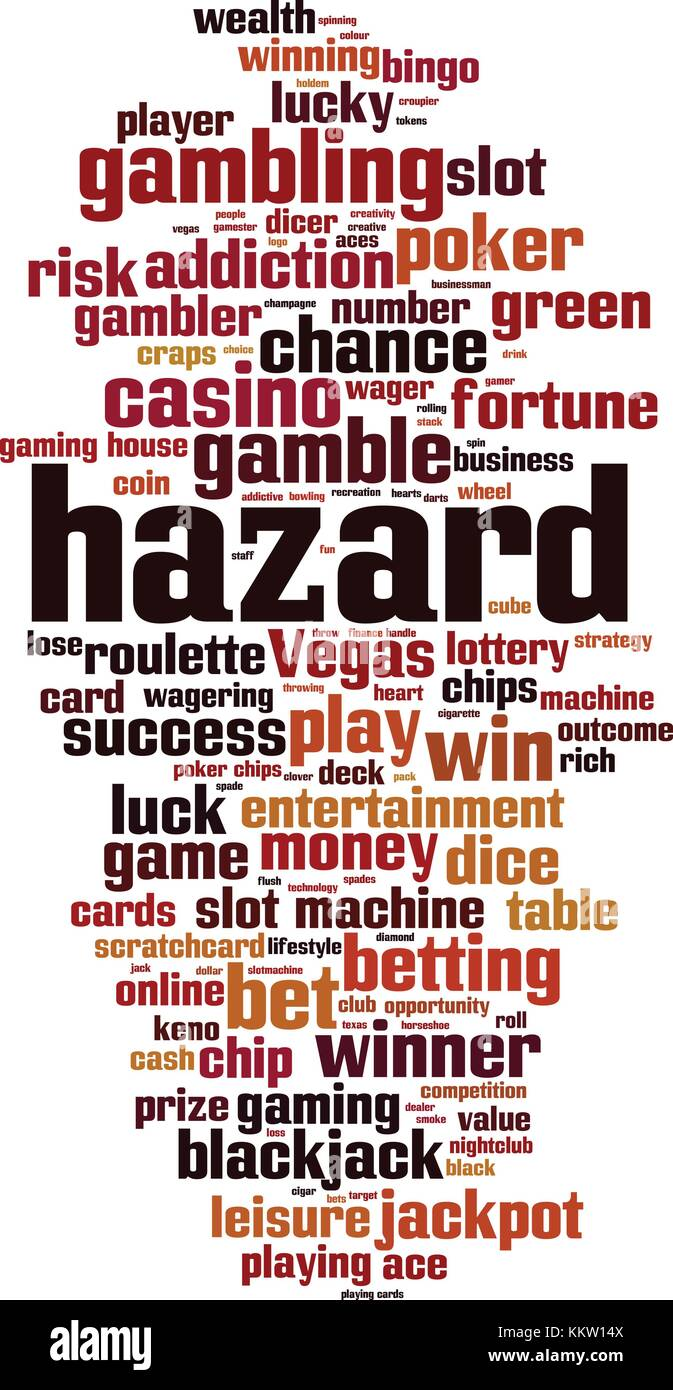 Hazard word cloud concept. Vector illustration - Stock Vector