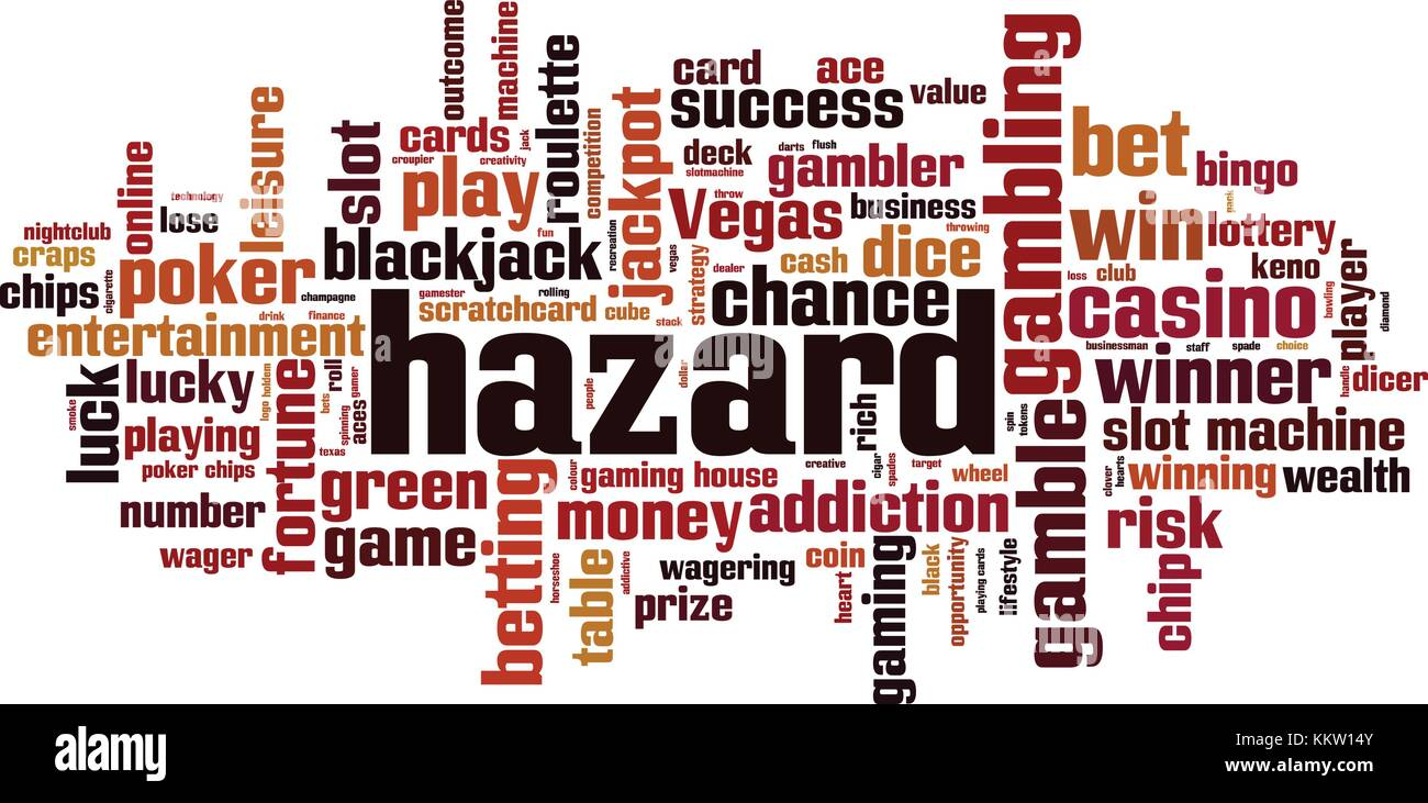 Hazard word cloud concept. Vector illustration - Stock Image