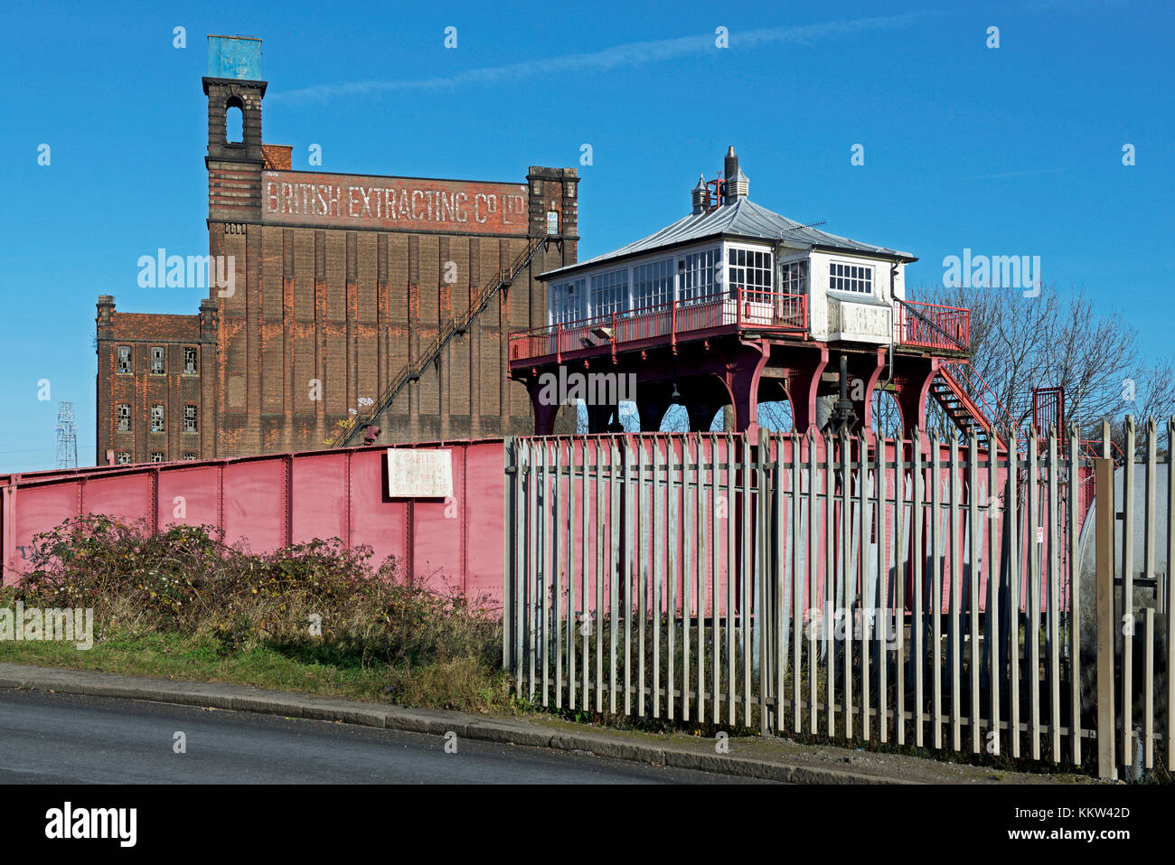 Post-industrial wasteland, Hull, Humberside, East Yorkshire, England UK - Stock Image