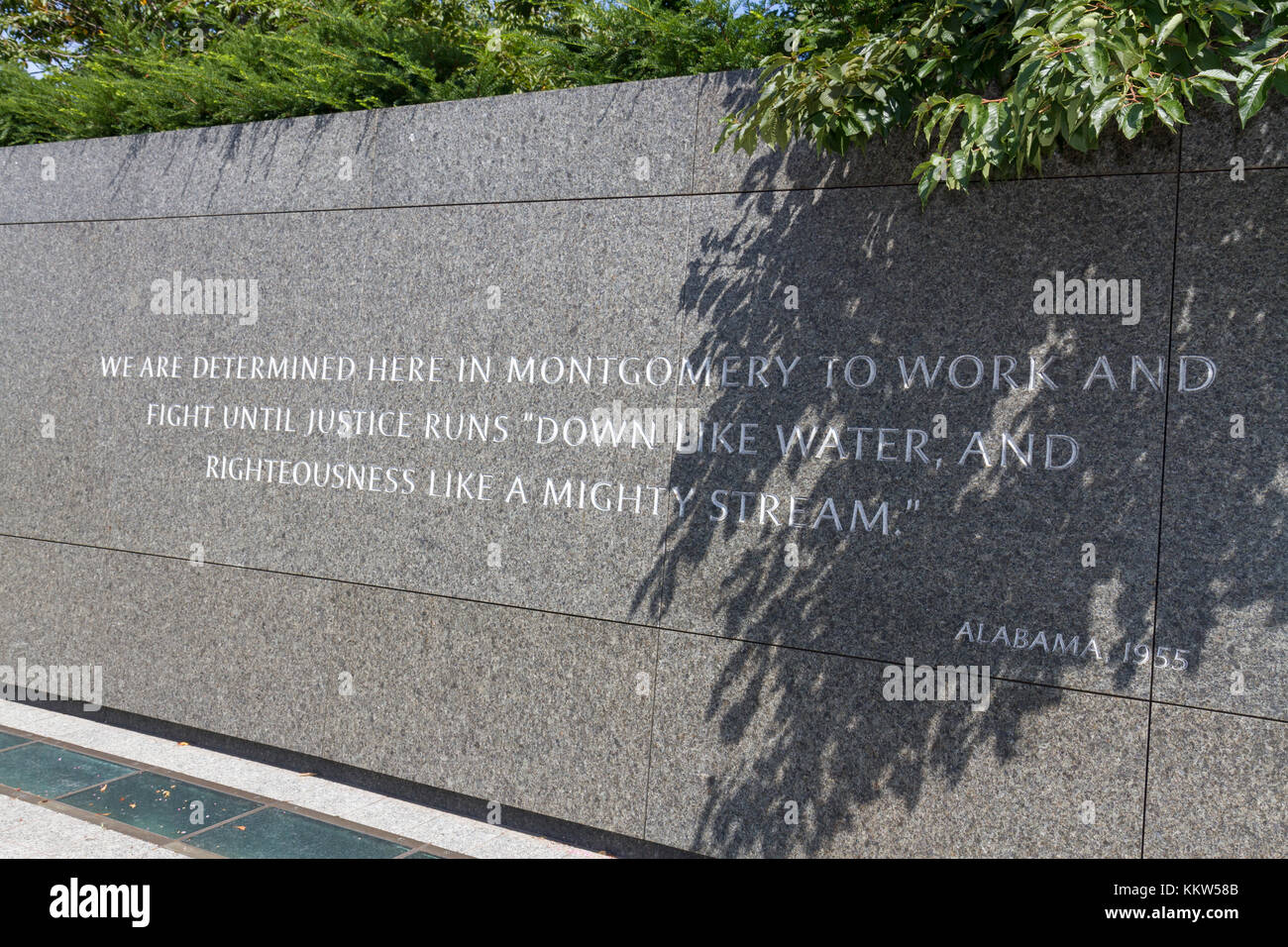 Martin Luther King Jr quotation on the Inscription Wall, Martin Luther King Jr. Memorial, Washington DC, USA. - Stock Image