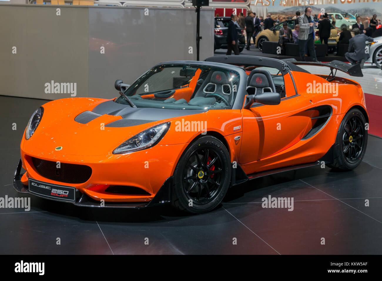 Geneva Switzerland March 1 2016 Lotus Elise Cup 250
