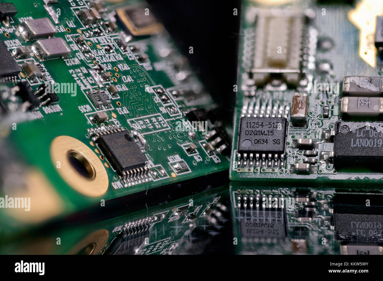 Circuit Boards Stock Photos Images Alamy Pcb Recycling Machine Gt Waste Printed Board Image