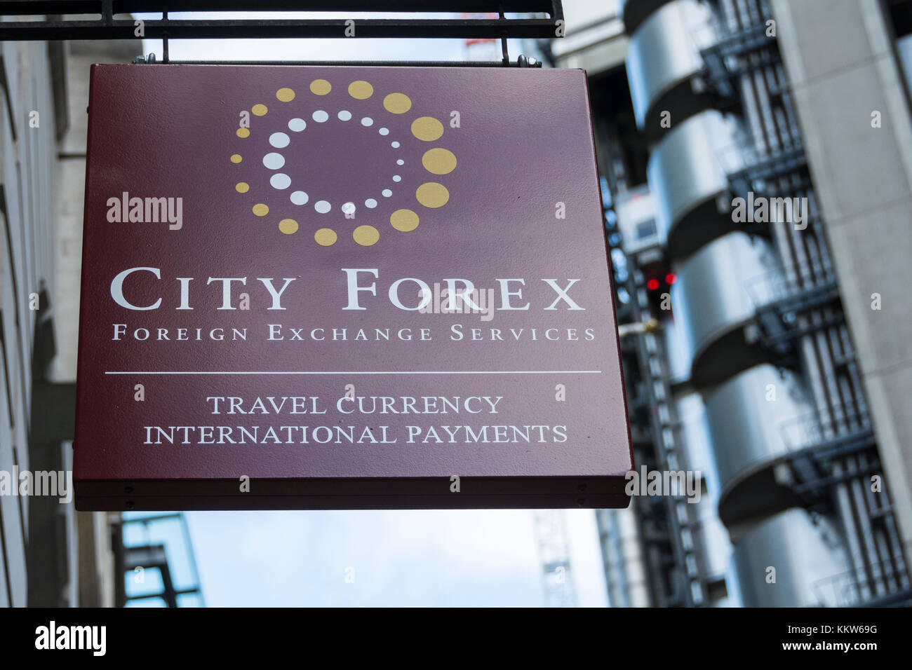 City Forex Foreign Exchange on Leadenhall Street, London, UK - Stock Image