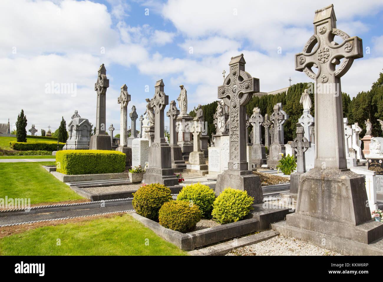 A beautiful Irish cemetery. ----- Ireland, Dublin - May 22, 2015: photograph of the cemetery in Dublin on a beautiful Stock Photo