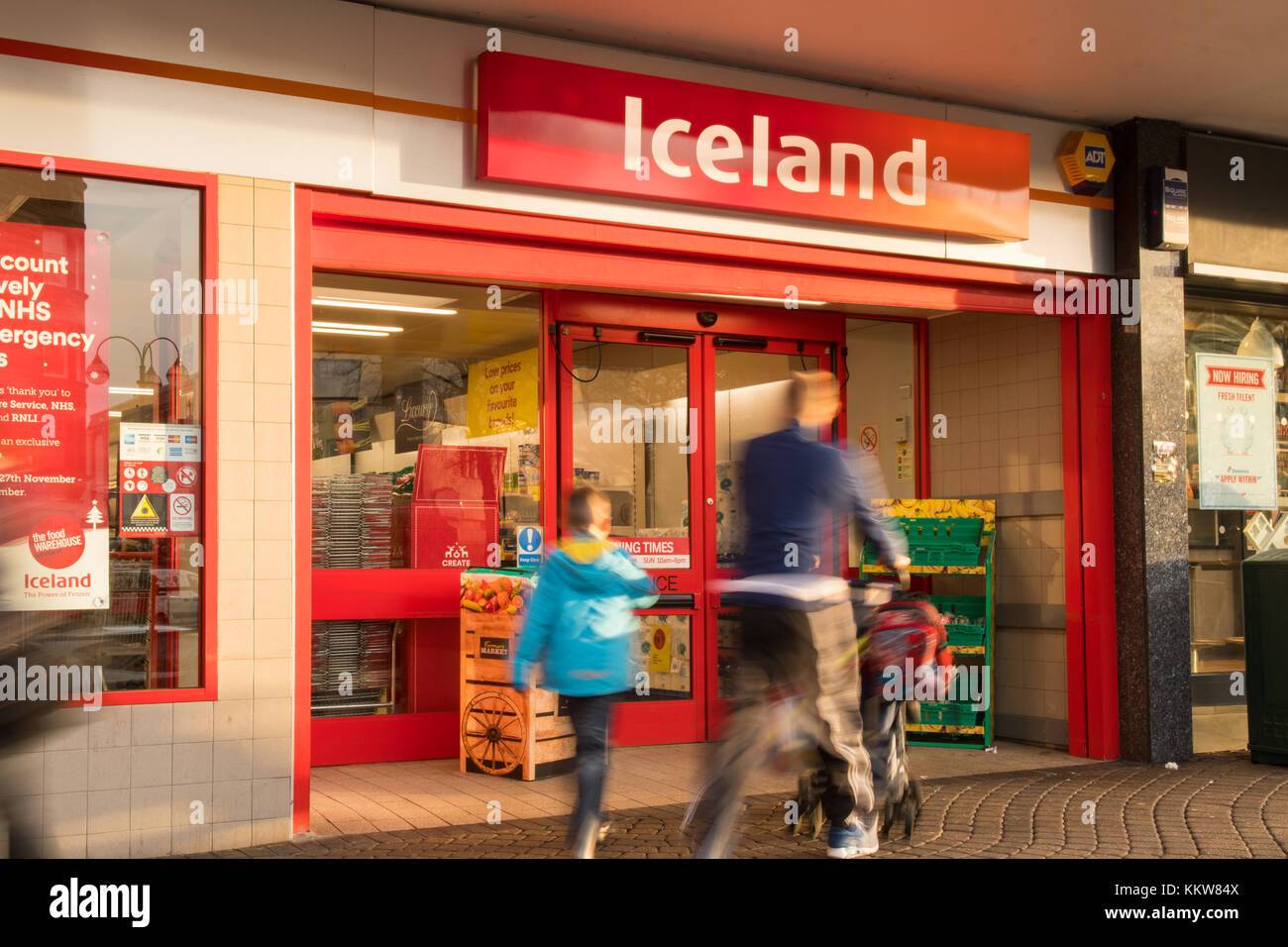 Iceland foods shop storefront - UK - Stock Image