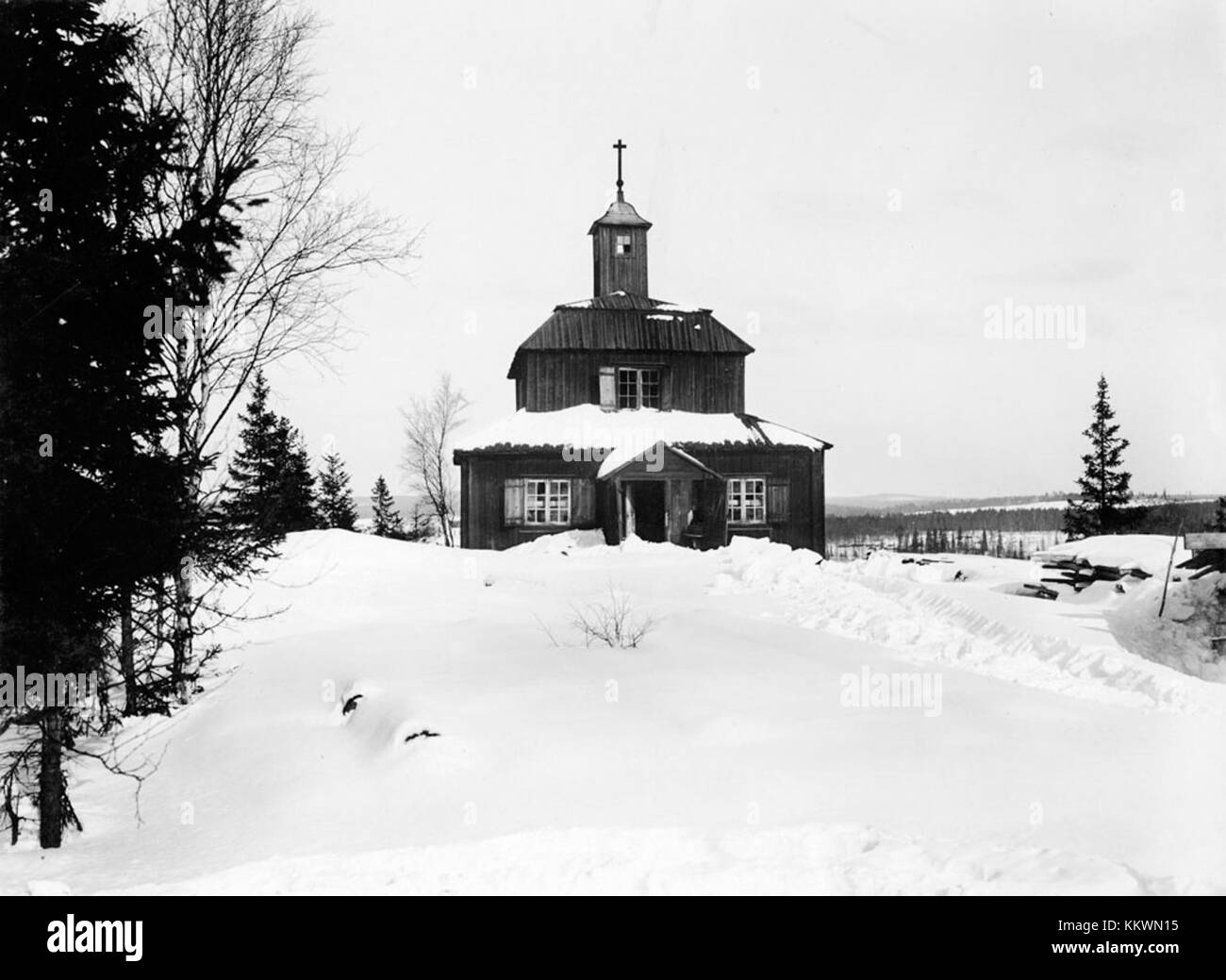Garpenberg Miners' Chapel, Dalarna, Sweden - Stock Image