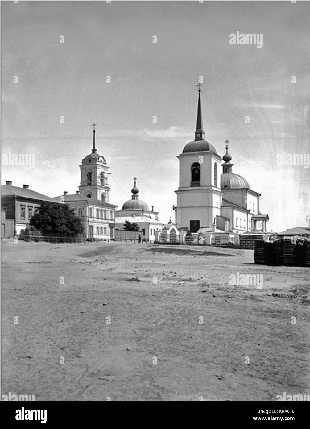 Trinity church and Church of the Assumption Tsaritsyn 1903 - Stock Image