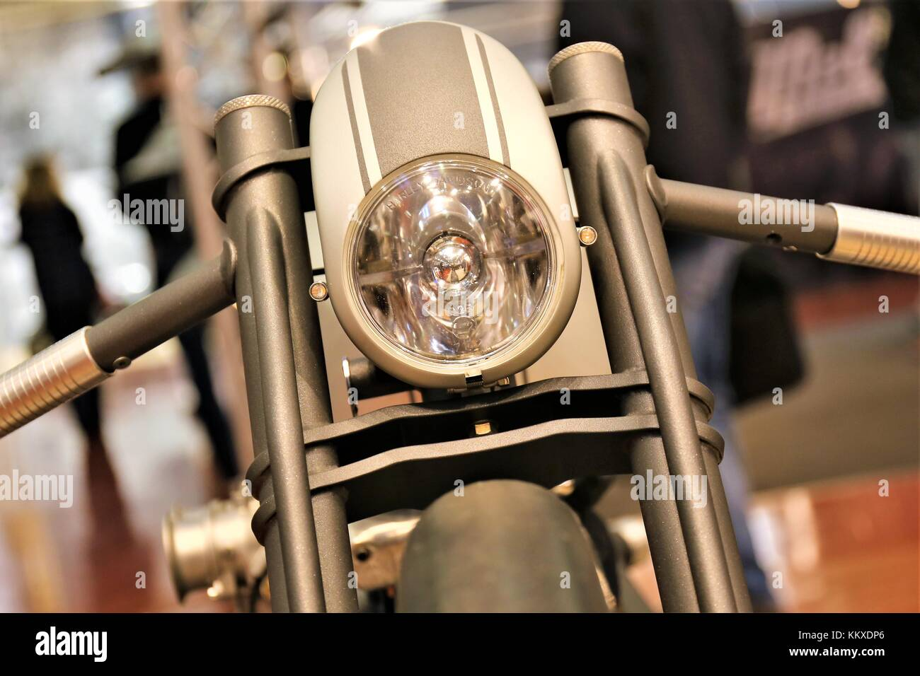 Bad Salzuflen, Germany. 2nd Dec, 2017. Motorcycle from the Custombike 2017 - THE WORLDS LARGEST EXHIBITION FOR MODIFIED - Stock Image
