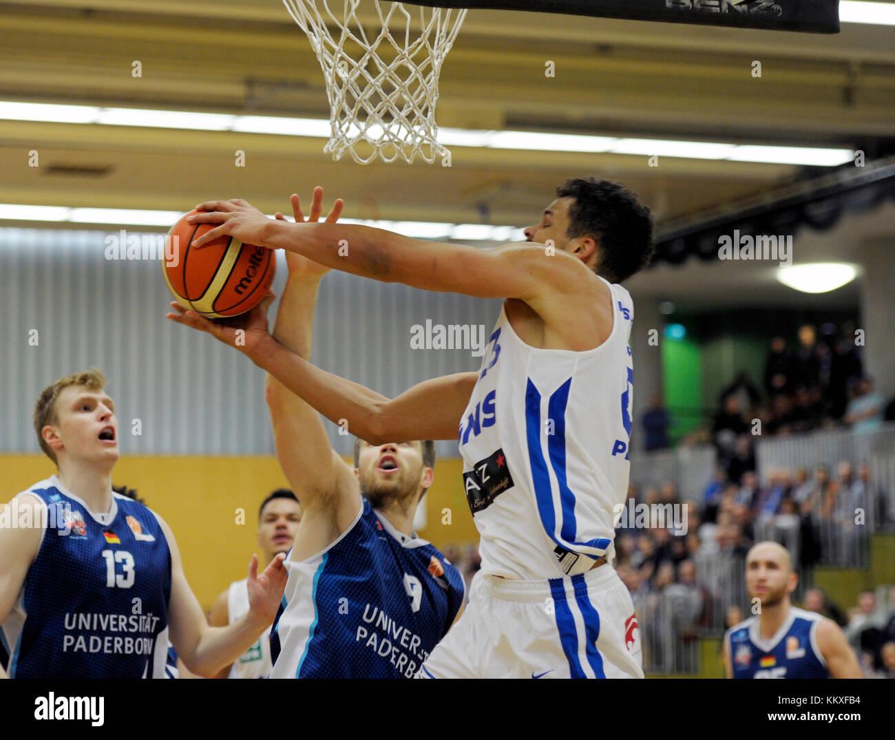 Karlsruhe, Deutschland. 02nd Dec, 2017. Jarelle Reischel (PSK) am Ball, GES/ Basketball/ ProA: PSK Lions - Baskets - Stock Image
