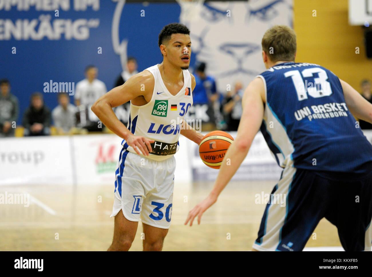 Karlsruhe, Deutschland. 02nd Dec, 2017. Jarelle Reischel (PSK) am Ball. GES/ Basketball/ ProA: PSK Lions - Baskets - Stock Image