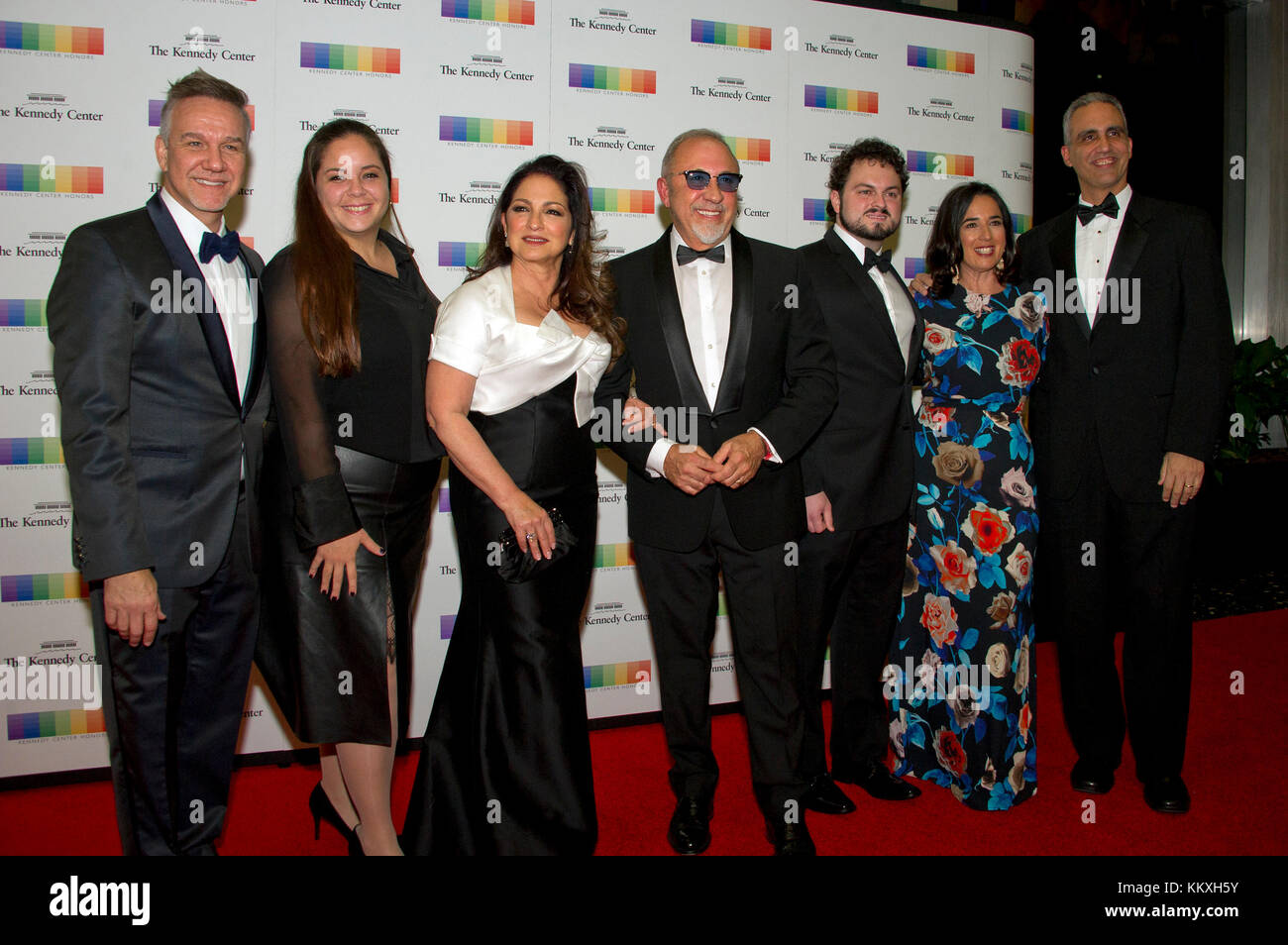 Washington DC, USA. 2nd December, 2017. Gloria Estefan, her husband, Emilio, and their family, arrive for the formal - Stock Image