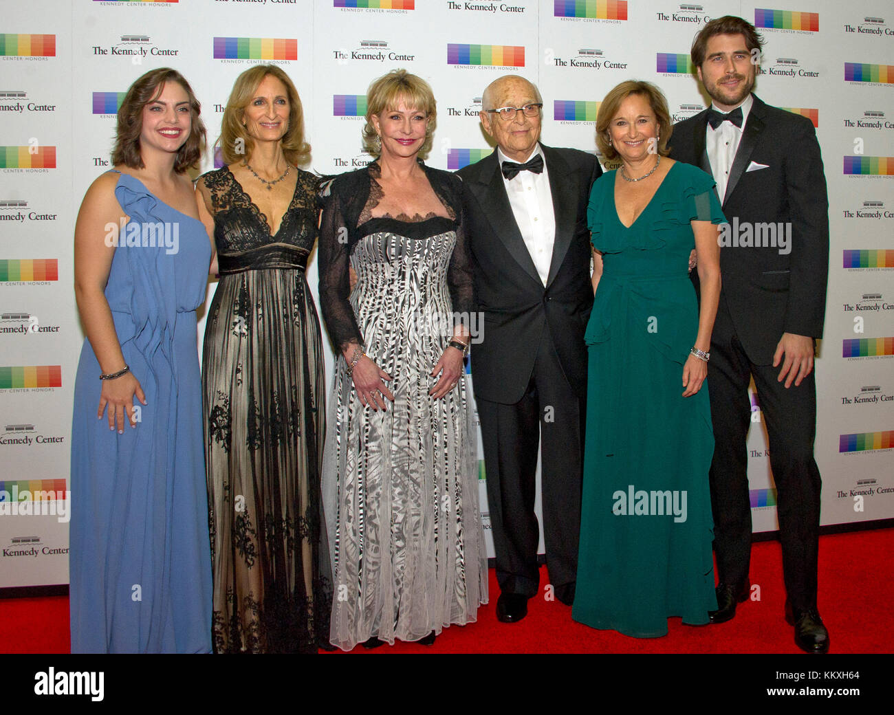 Washington DC, USA. 2nd December, 2017. Norman Lear and his family arrive for the formal Artist's Dinner honoring - Stock Image