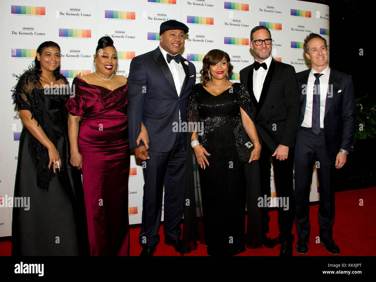 LL COOL J and his family arrive for the formal Artist's Dinner honoring the recipients of the 40th Annual Kennedy - Stock Image