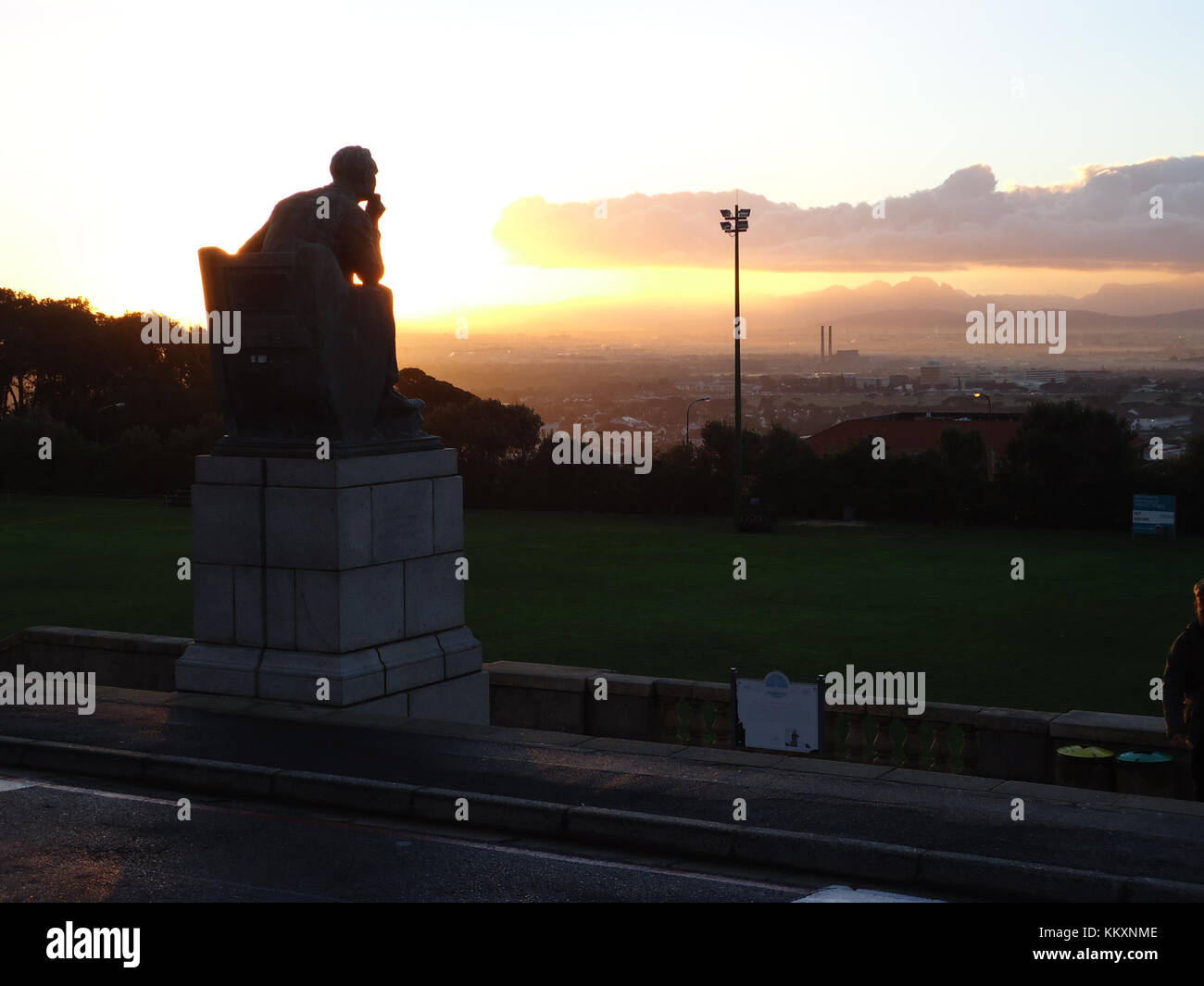 Cecil John Rhodes looking over Cape Town (7347447748) - Stock Image