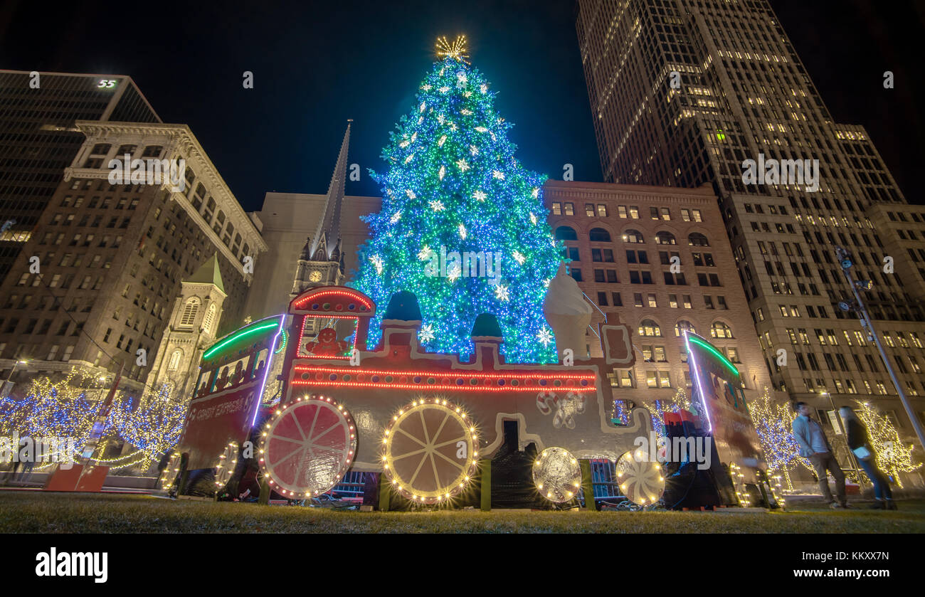 Cleveland Christmas.Cleveland Christmas Stock Photo 167163129 Alamy