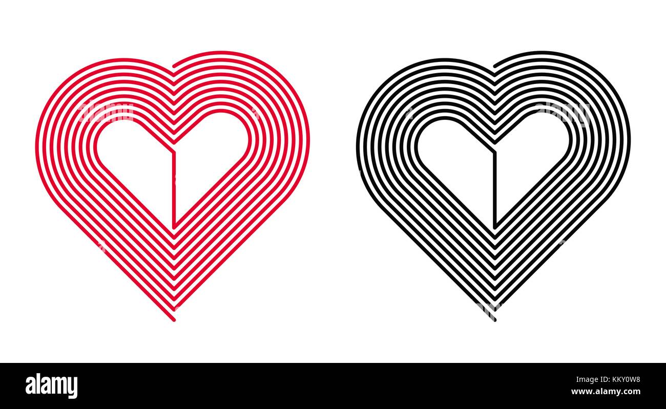 Heart Line Stock Vector Images - Alamy