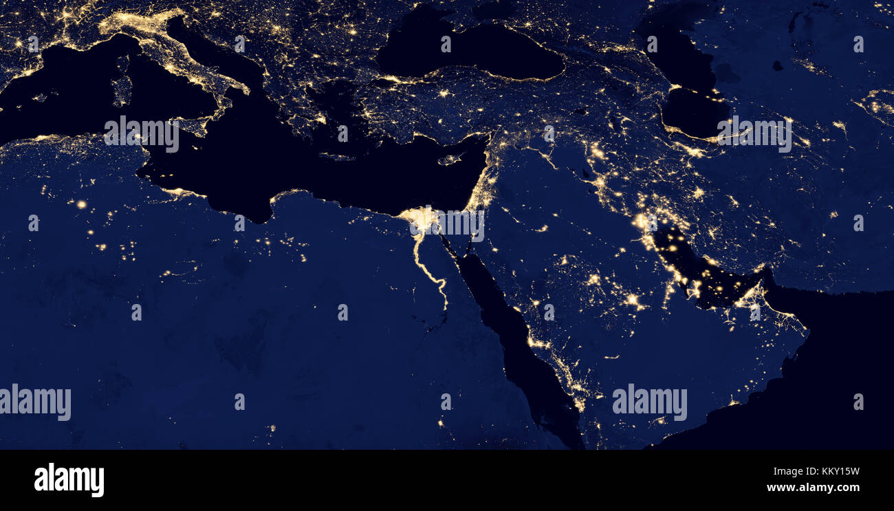 Night globe city light map asia east stock photos night globe city middle east west asia east europe lights during night as it looks like from gumiabroncs Gallery