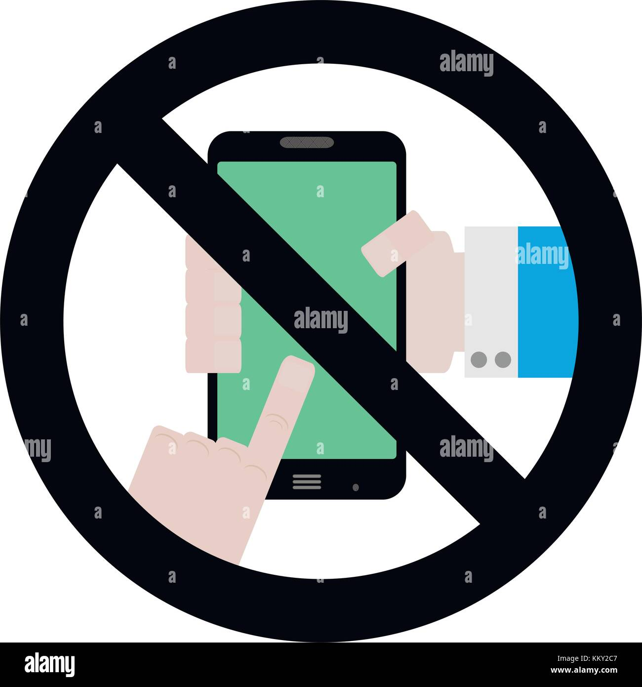 No Use Phone Symbol Vector Ban Telephone And Smartphone Zone Badge