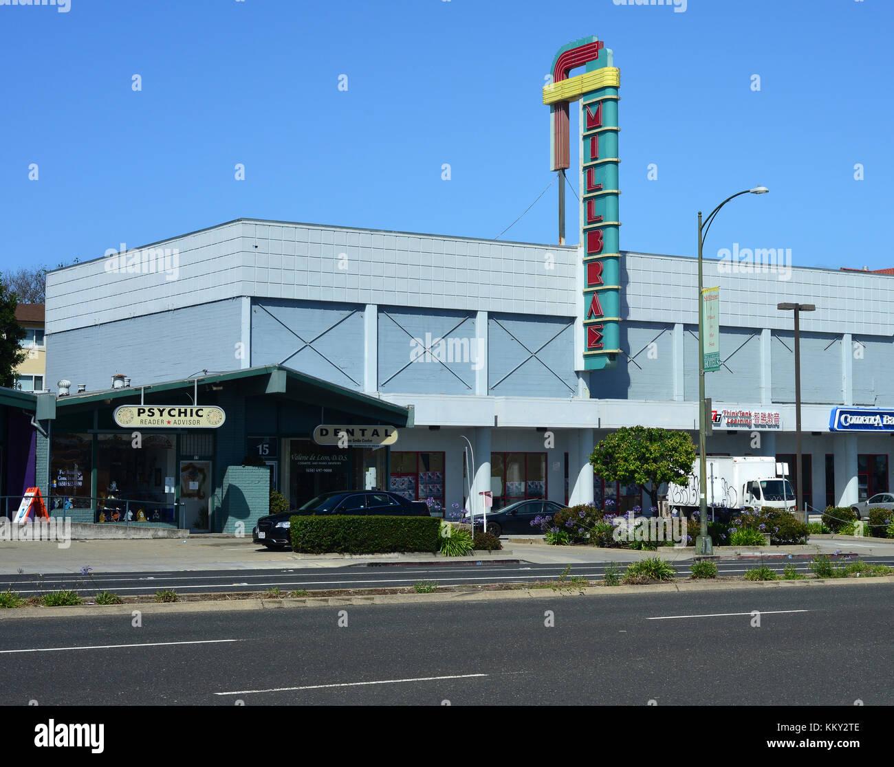 Shopping mall in Millbrae, San Francisco, California, USA - Stock Image