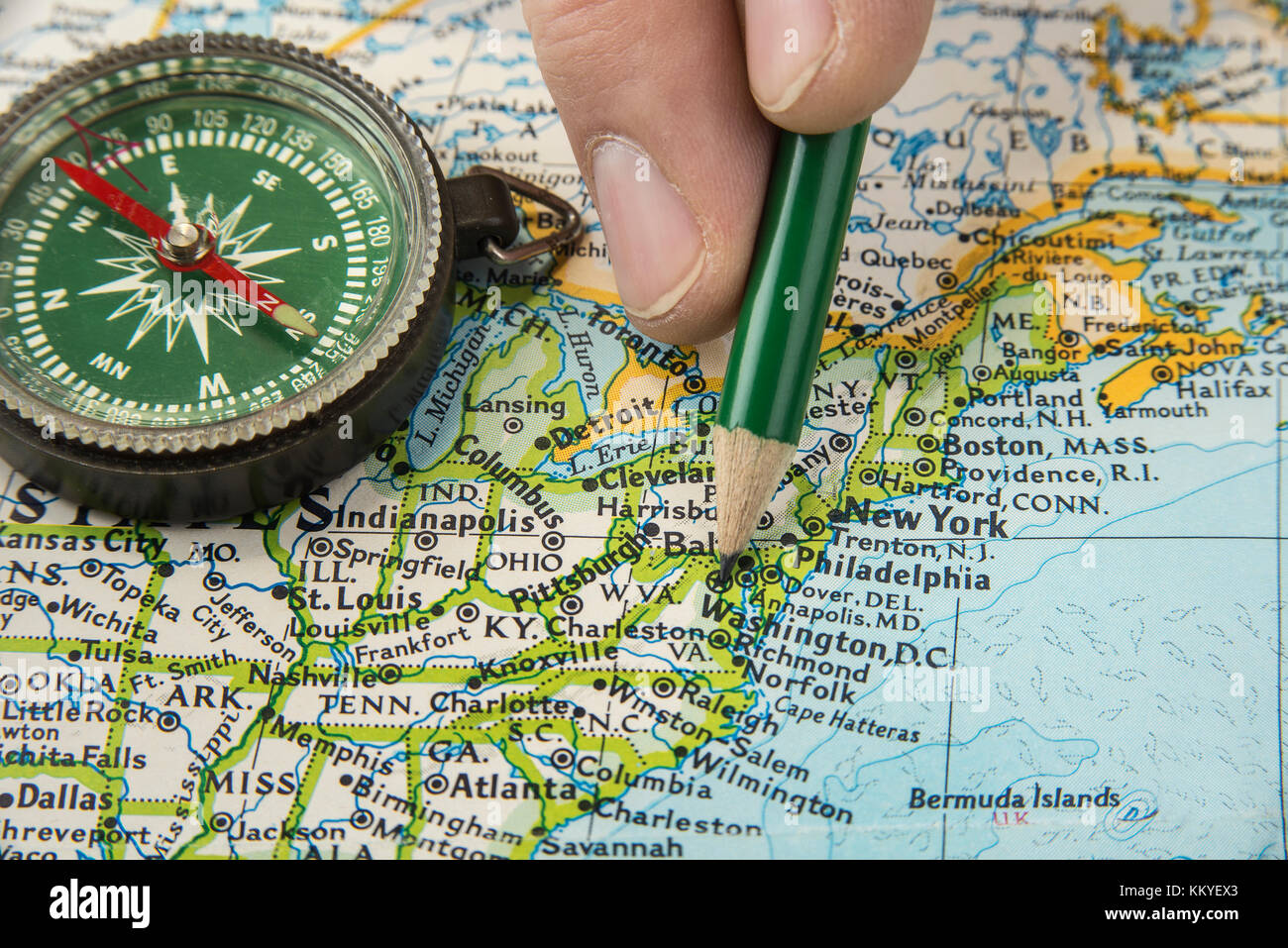 Physical Map New York Stock Photos & Physical Map New York Stock ...
