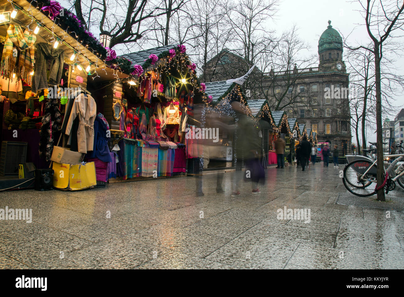 Belfast, Northern Ireland - 20th November 2017 - Christmas market at the city hall. A traditional festive market - Stock Image