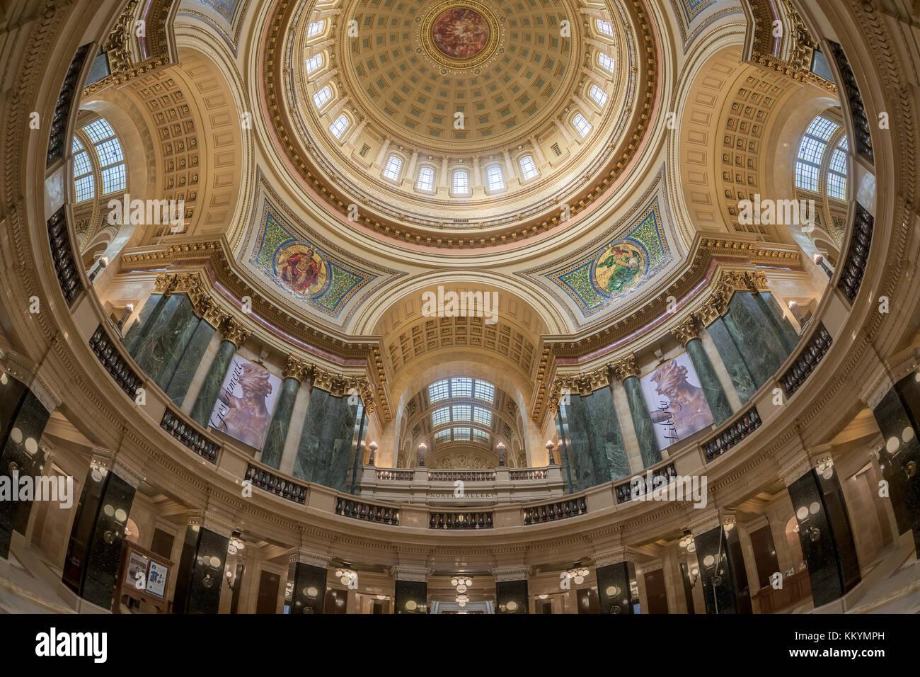Capitol Rotunda Inside State Building Stock Photos