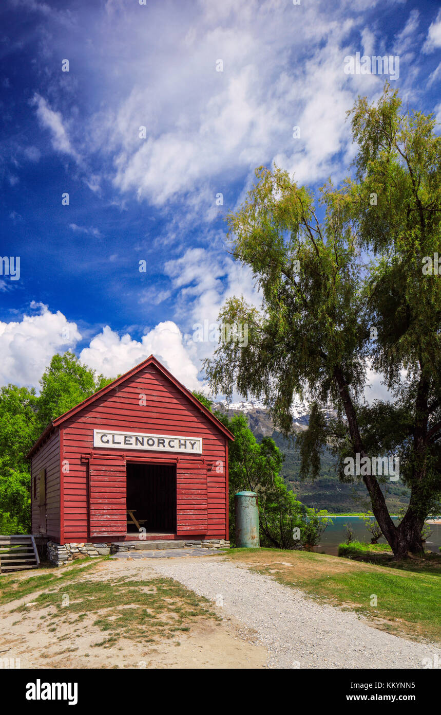 Tha famous Red Barn of Glenorchy, New Zealand. Stock Photo