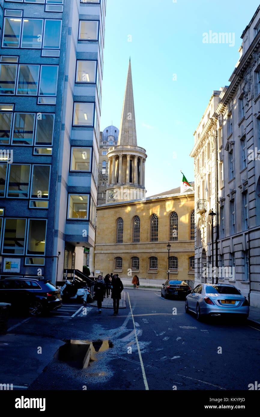 Broadcasting House on Langham Place, Portland Place, Marylebone, London, UK - Stock Image