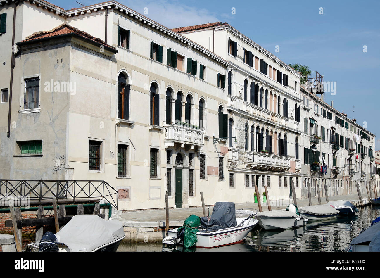 Ca Rizzi and Apartment building, on the Fondamenta de Ca' Rizzi, Venice, Italy Stock Photo
