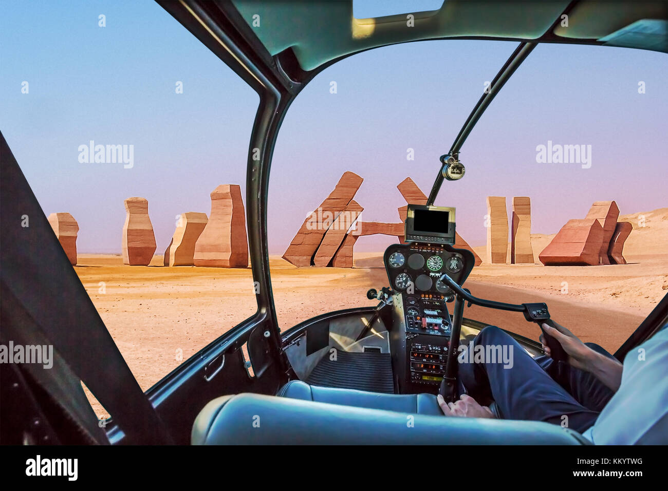 Ras Mohammed Helicopter - Stock Image