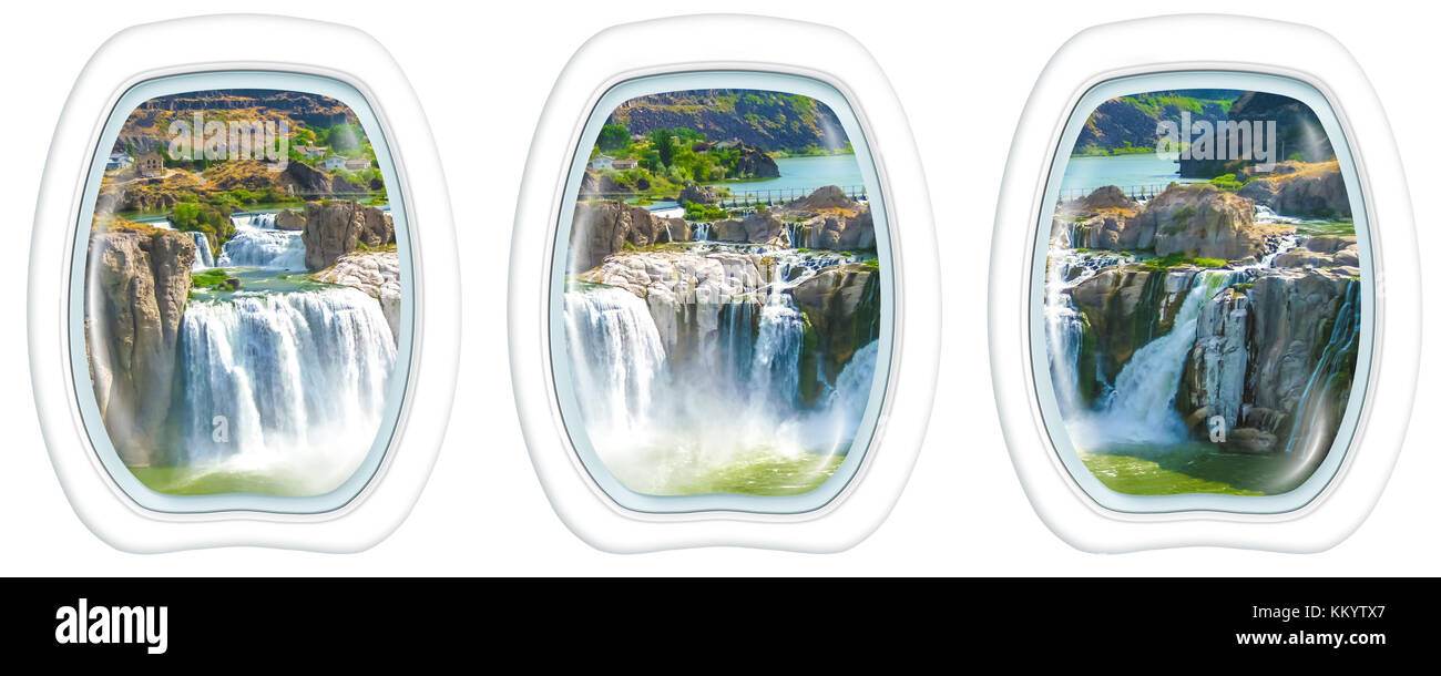 Niagara Falls Porthole windows - Stock Image